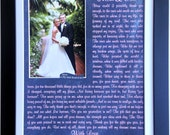 Thank You Wedding Gift: Personalized Parents Mother Father of the Bride Gift the Groom Gift Mom Dad Poem Custom Print Photo Mat Art