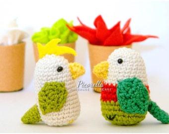 Amigurumi Parrots// Miniature Parrots// Crochet Parrots // Parrots Doll // Mini Parrots