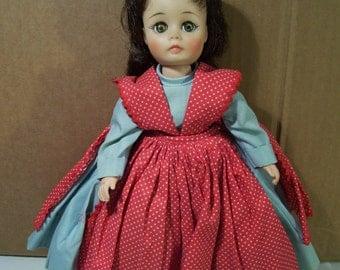 "Vintage Madame Alexander Little Women 12"" Plastic Vinyl Jo Doll, 1960's"