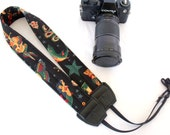 Sailor Jerry Tattoo Black Camera Shoulder Neck Strap Padded Adjustable