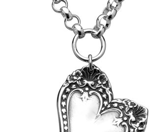 "Spoon Necklace: ""Monterey Heart"" by Silver Spoon Jewelry"