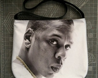 JAY-Z - Upcycled Rock T-Shirt Sling Purse - ooak