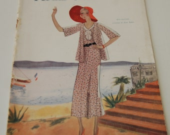 Vintage Fashion Magazine French 1930's Modes et Travaux no. 278 Sewing and Knitting