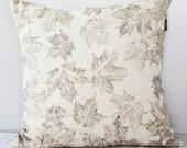 Maple leaves Ecoprint Cushion