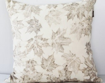 Maple leaves Ecoprint Cushion