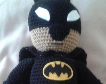 my batman in amigurumi plushie