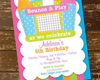 Bounce House Birthday Invitations Gangcraft Net