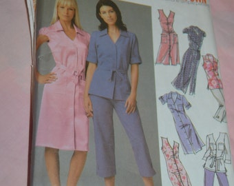 Simplicity 5191 Womens Design your own ShirtDress in Two Lengths or Tunic and Pants in two lengths Sewing Pattern  UNCUT Sizes 18W - 26W