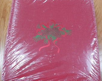 Vtg Creative Memories CHRISTMAS 12x12 Album Red Pinecones White Pages NEW Sealed