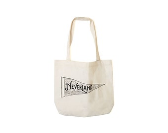 Neverland Tote - Peter Pan - Screen Printed on Canvas - Made in USA