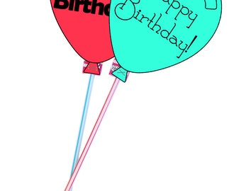 LDS Primary Birthday Balloon - Easy Gift - Printable - Instant Download