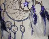 MoonDancer Tanzanite Crystal Dreamcatcher,17.78 cm, Spirit  Pentagram Dream Catcher handmade by dreamcatcherman