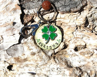 Personalized Sláinte Keychain, Celtic Christmas Keychain Irish Blessing Keychain, Good Luck Keychain, Four Leaf Clover Keychain, Good Health