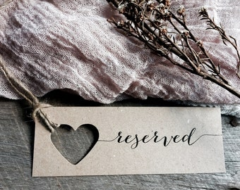 Reserved Chair Signs, Wedding Reserved Signs, Reserved Tags, Wedding Reserved Signs, Reserved, Wedding Chair Reserved Signs,