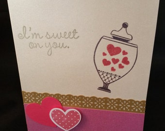 Sweet on you Valentine Card