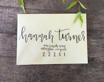 Sage and Gray Calligraphy Envelope Addressing