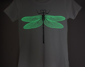 Green Dragonfly Glow-in-the-dark Woman T-shirt