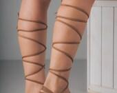 Brown Leather Lace Up Sandals, Crete Sandals, Women's Lace Up Sandals,Women's Flats,  Nubuck Sandals, Suede Sandals, Brown Suede Shoes,Flats