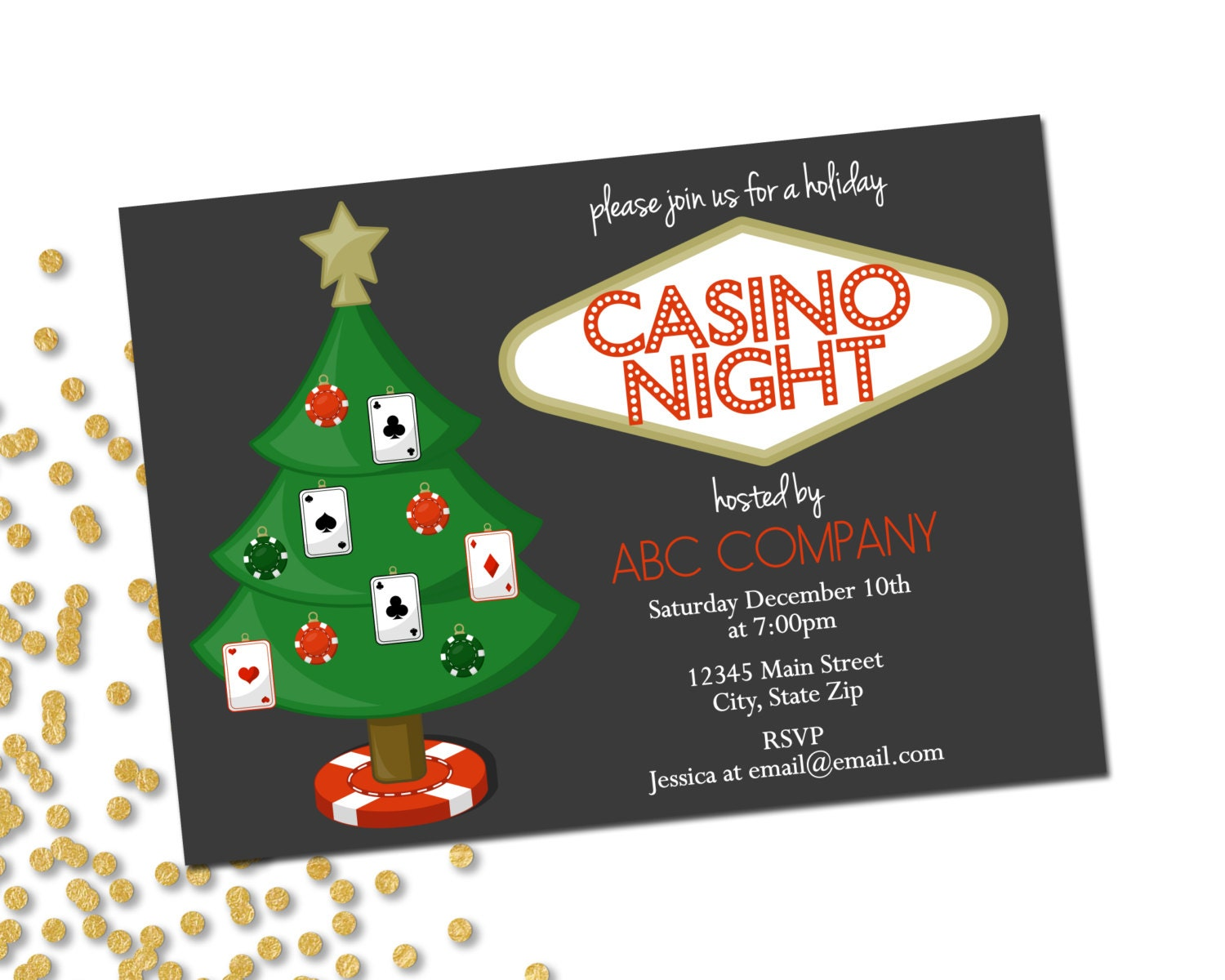 It's just a picture of Ridiculous Free Printable Casino Party Invitations