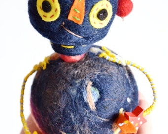 Robot, Wool Robot, Solar System Art, Art Doll, Wool Doll, Room Decor, Robot Toy by Wooly Topic