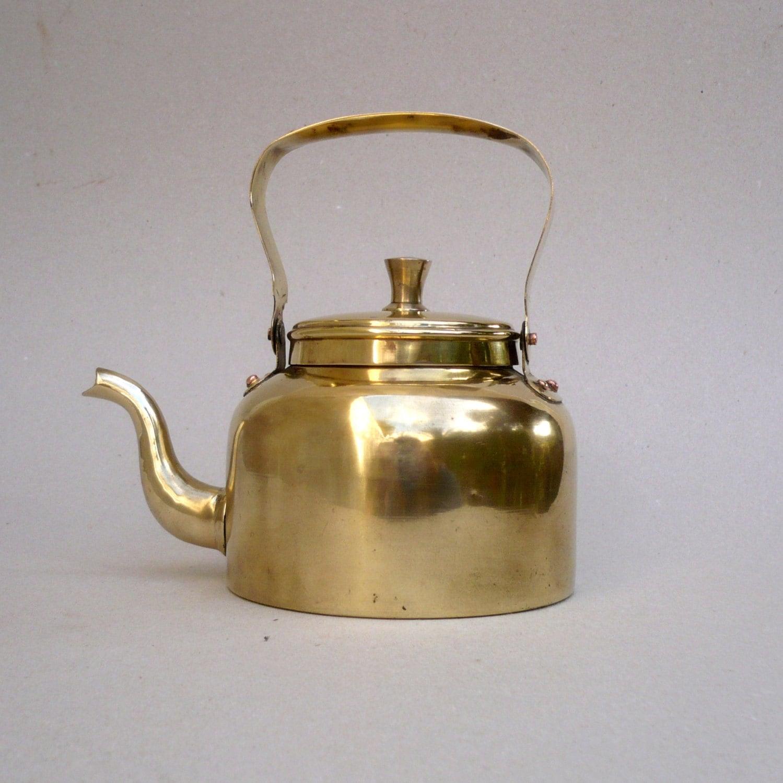 Decorative Kitchen Accessories Uk: Brass Kettle Kitchen Decor Vintage Brass Teapot Coffee And