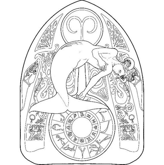Aries Zodiac Pages For Adults Coloring Pages