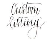 Custom Listing for Mandy Goins - Custom Lettering Print by ItsKatesHandwriting