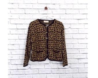 LEOPARD CHIC - Marilyn Monroe Cheetah Print Cardigan | Animal Print Sweater | Leopard Print Sweater | Cheetah Print Sweater | Animal Print