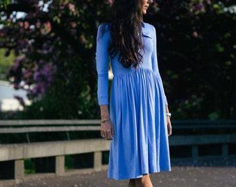 midi dress BELLA RAGAZZA blue