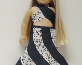 18 inch doll clothes 1970's swirl skirt, halter top