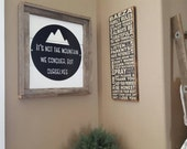 15 inch Mountains Sign
