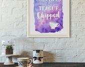 OUAT Belle Rumplestiltskin | Watercolor + Typography Quote Print