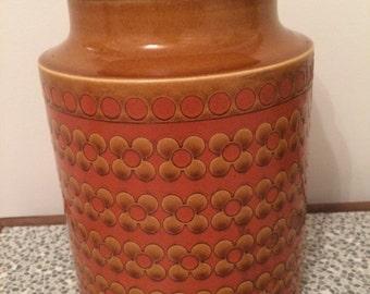 Hornsea Saffron ceramic storage jar