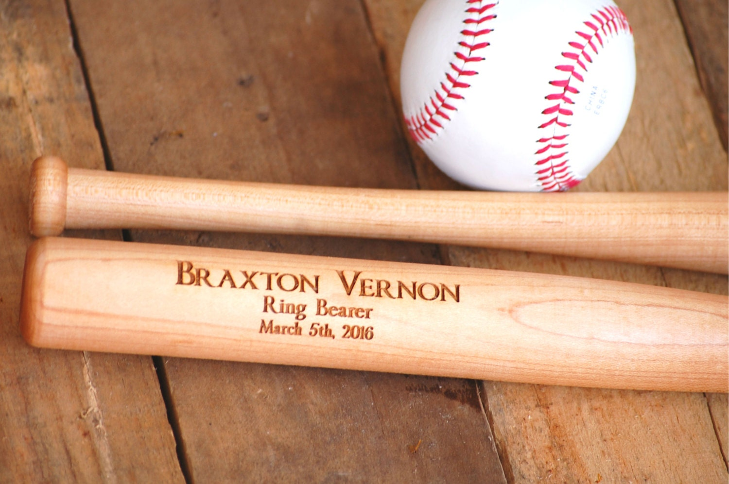 Personalized Groomsmen Gifts 4 Baseball Bat Trophies Wedding Gift