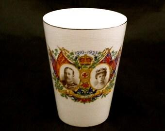 1910 -1935 Silver Jubilee China Cup, George V & Mary Jubilee Collectible Royal Mug, English Royal Family, Royal Souvenir, English Royalty