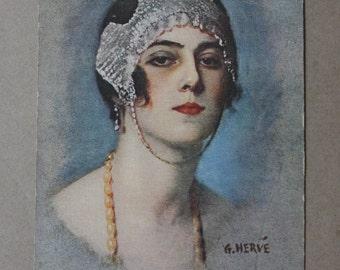 G. Herve, Circa 1910s Salon de Paris Postcard by Lapina of Paris, France