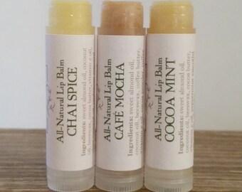 Lip Balm Sampler Set of 3, Lip Balm Set, Gift Set, Natural Lip Balm, Natural Beauty, Natural Skin Care, Gift Sets for Women, Bath and Beauty
