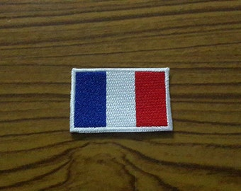 France Flag Applique Embroidered Iron on Patch