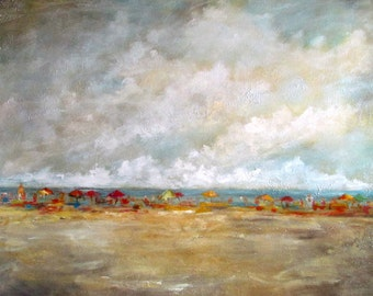"""Beachscape on canvas """"Enjoyed Water"""" 36x48"""