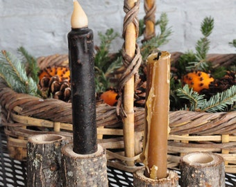 Wooden Taper Candle Holders
