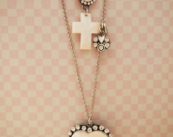 Double Necklace, Shell Necklace, Long & Short Necklace, Heart Necklace, Bling Necklace, Vintage Necklace, Long Necklace, Cross Necklace