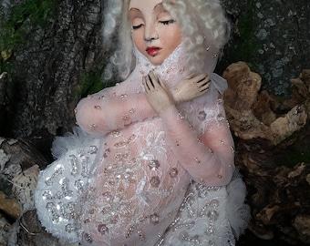 """Art  doll ooak """"sleeping butterfly"""""""