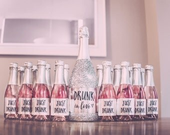 Drunk in Love Just Drunk Champagne Label Set