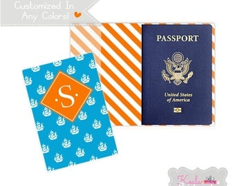 Personalized Passport Cover - Heavy Vinyl with Cardstock Insert - You Choose Colors & Personalization Style - US Passport - Pirate Ships