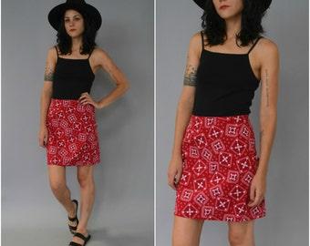 1990s high waisted handkerchief skirt
