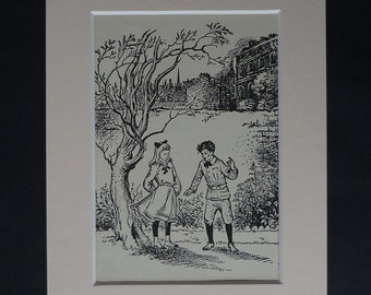 1950s Vintage Pauline Baynes Print, CS Lewis Decor, Available Framed, Literary Art, Chronicles of Narnia Gift, Magician's Nephew Picture