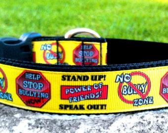 Stop Bullying 1 Inch Width Dog Collar