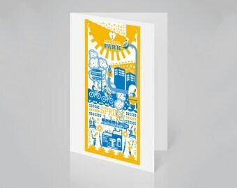 Brockwell Park, London card (spring)