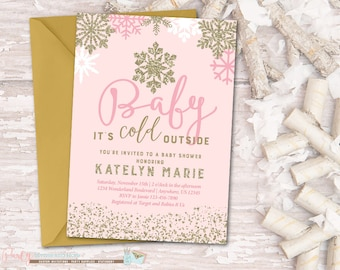 baby it's cold   etsy, Baby shower invitations
