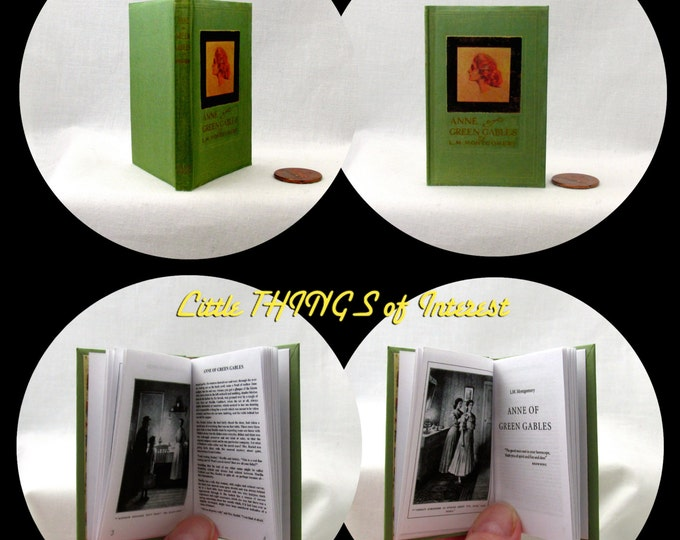 ANNE Of GREEN GABLES 1:3 Scale Readable Book American Girl Doll Book 18 inch Ag Doll 1/3 Scale